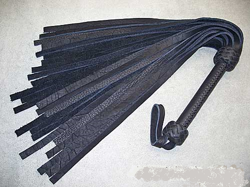 Black Buffalo Flogger, Black Buffalo laced handle